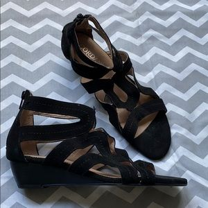 CORDANI | Wedge Heel Suede Sandals Gladiator